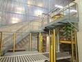 Passerelle paletisseur et escalier